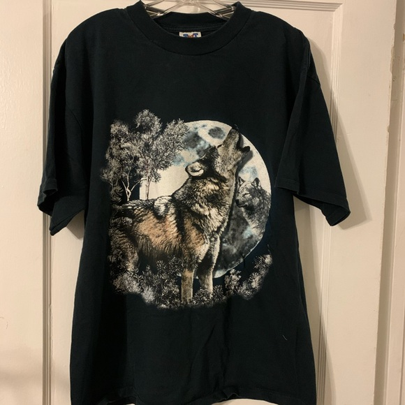 Trau & Loevner Other - Deadstock Vintage TNT Howling Wolf Graphic Tee XL